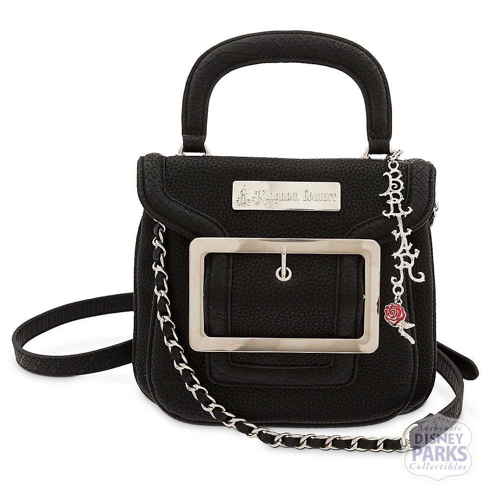 Kingdom Couture Collection Disney Parks Briar Rose Crossbody Tote Black Purse