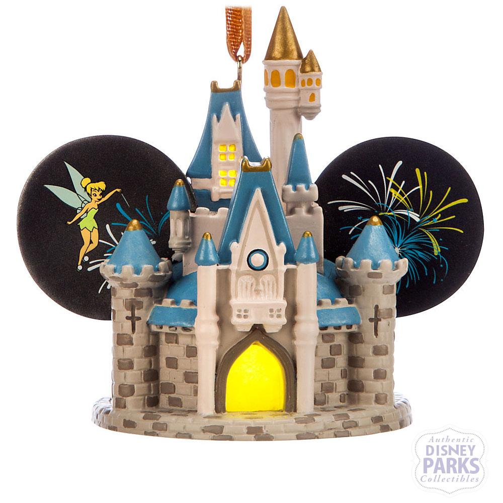 Disney Parks Cinderella Castle Light-Up Ear Hat Ornament
