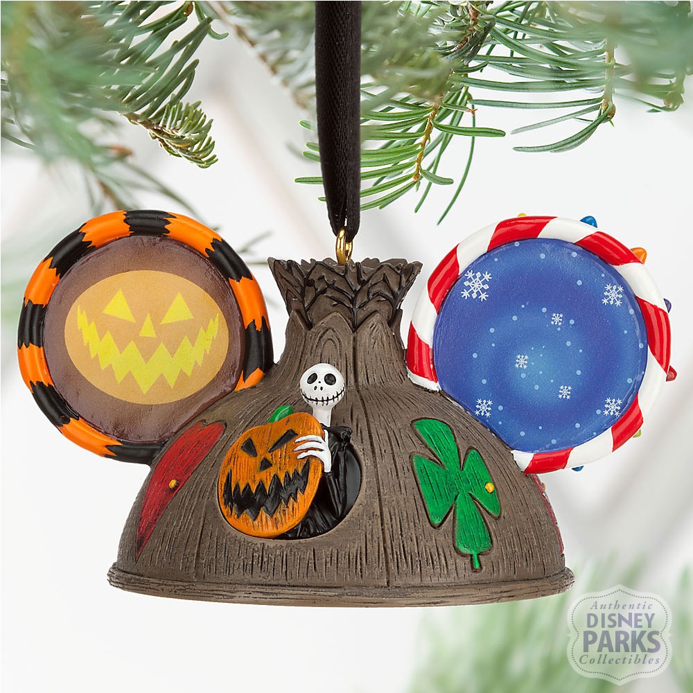Disney Parks Nightmare Before Christmas Ear Hat Ornament Holiday ...