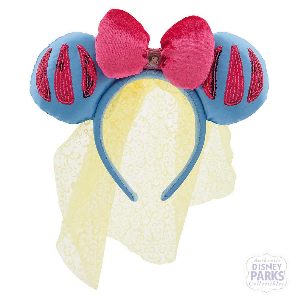 Disney Parks Snow White Ear Headband Minnie Ears W Veil